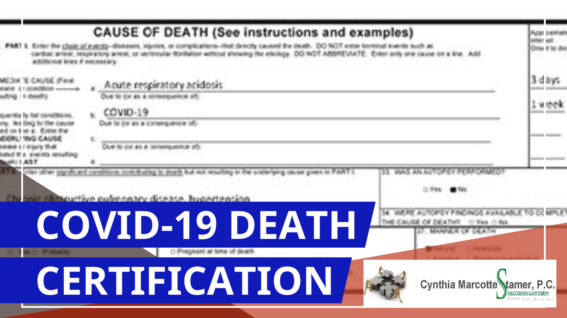 CME Credit Offered For Providers Completing Online Replay Of 4/16 CDC Training On Certifying  COVID-19 Deaths